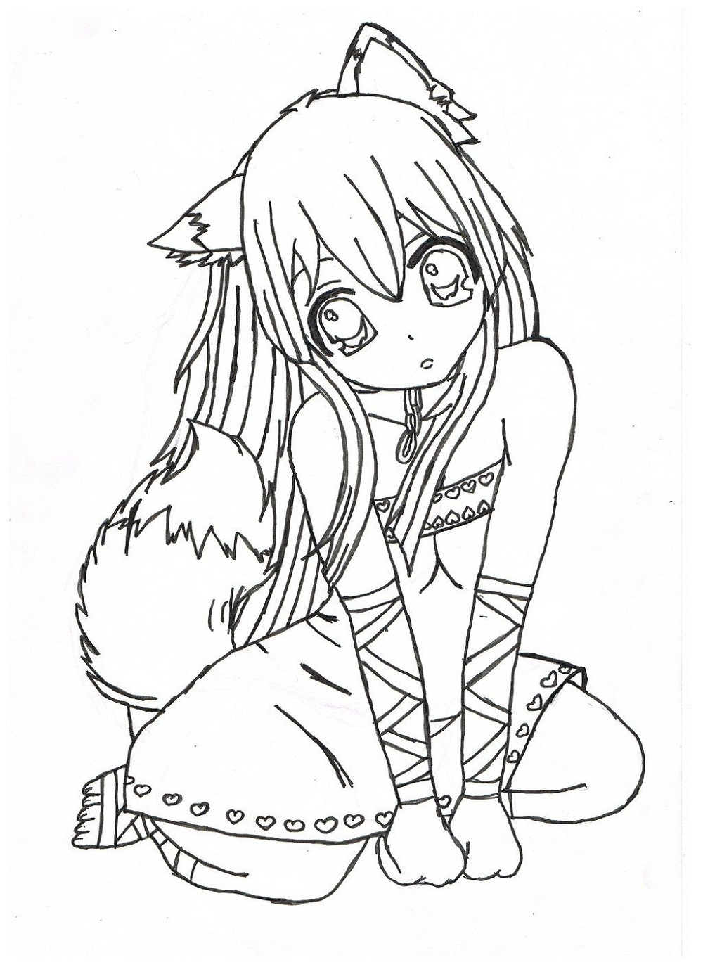 Free Coloring Pages for Girls Anime