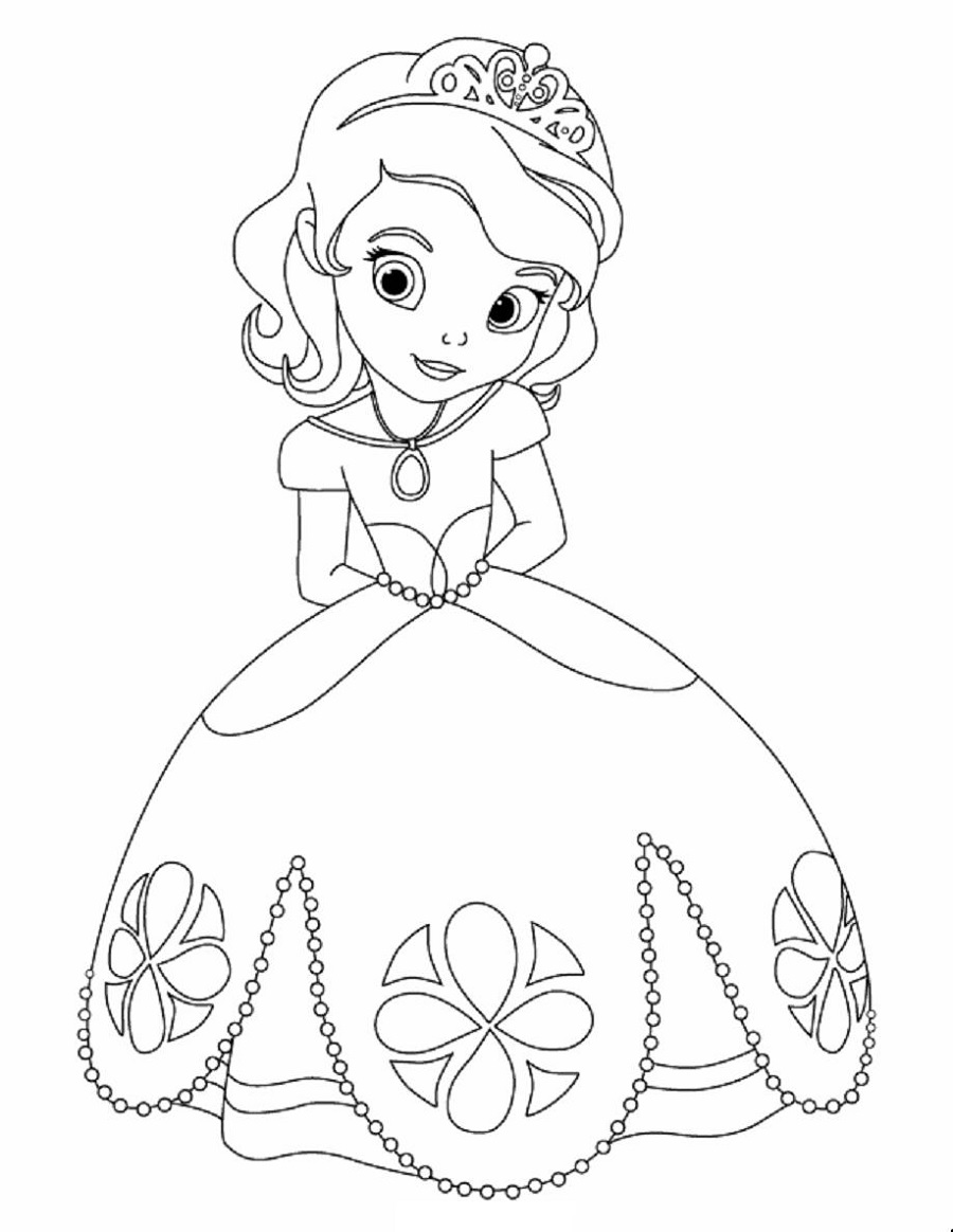 Free Coloring Pages for Girls Disney