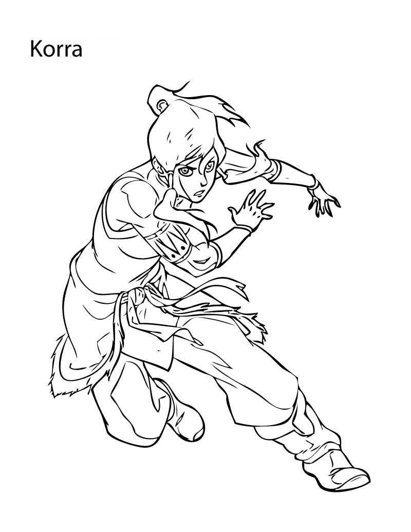 Free Coloring Pages for Girls Korra
