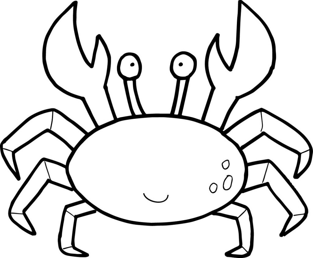 Free Coloring Pages for Toddlers Crab