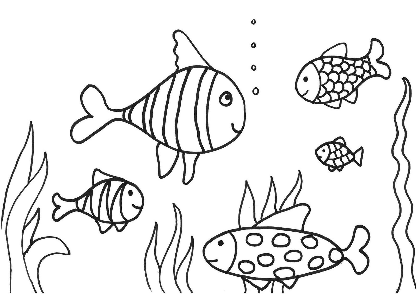 Free Coloring Pages for Toddlers Fish