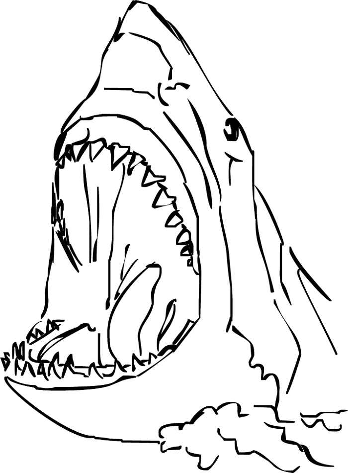 Free Coloring Pages for Toddlers Shark