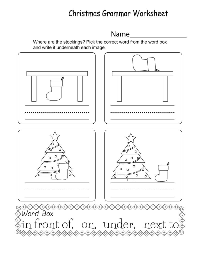 Free Printable Grammar Worksheets Christmas