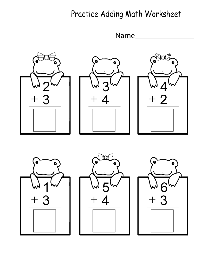 Free Printable Math Worksheets for Kindergarten Practice