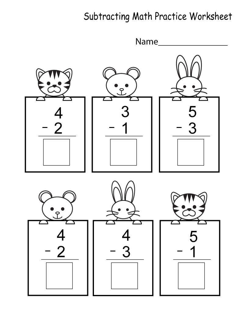 Free Printable Preschool Math Worksheets Subtraction