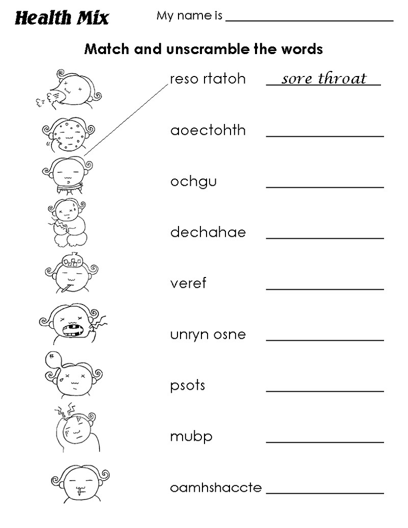Free Worksheets for Grade 1 Words