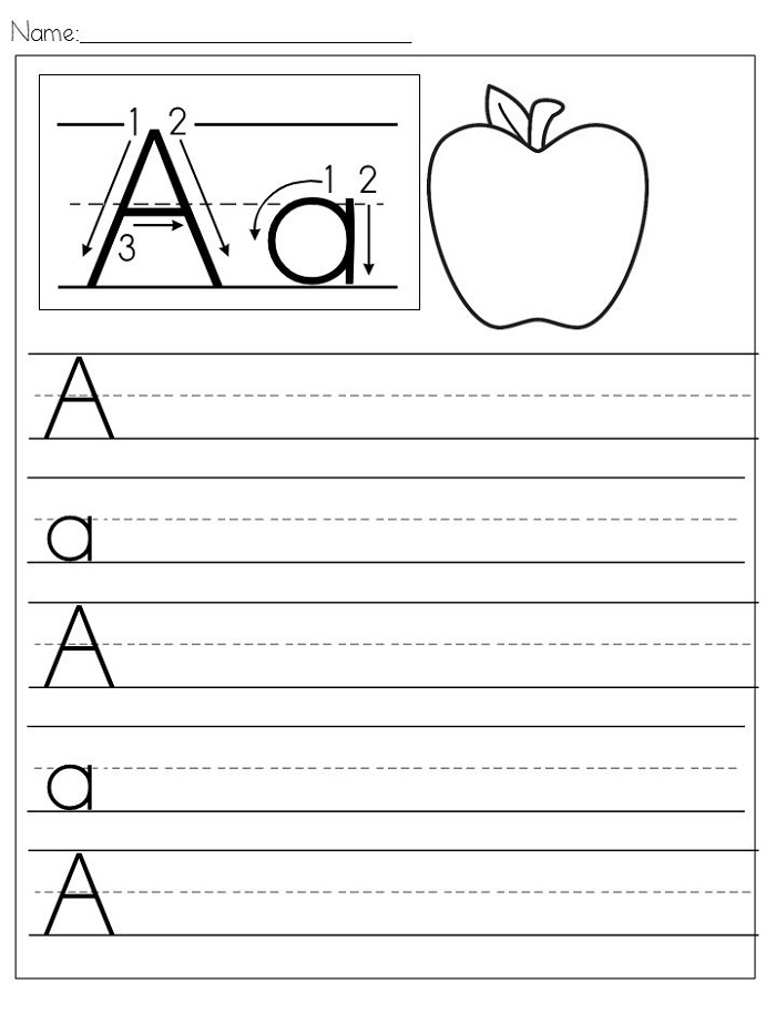 Free Writing Worksheets Alphabet