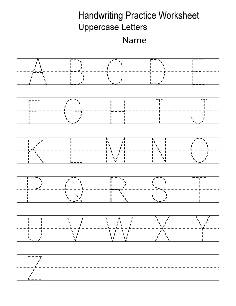 Free Writing Worksheets Letter