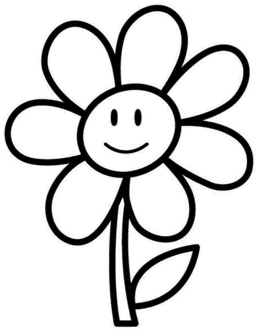 Kindergarten Coloring Pages Flowers