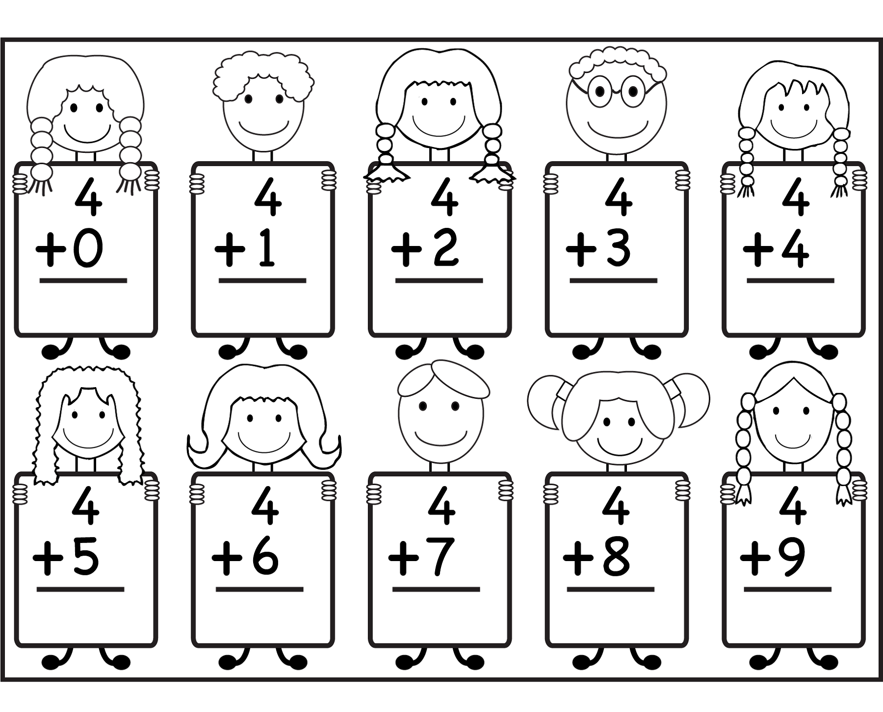 Kindergarten Math Worksheet Addition