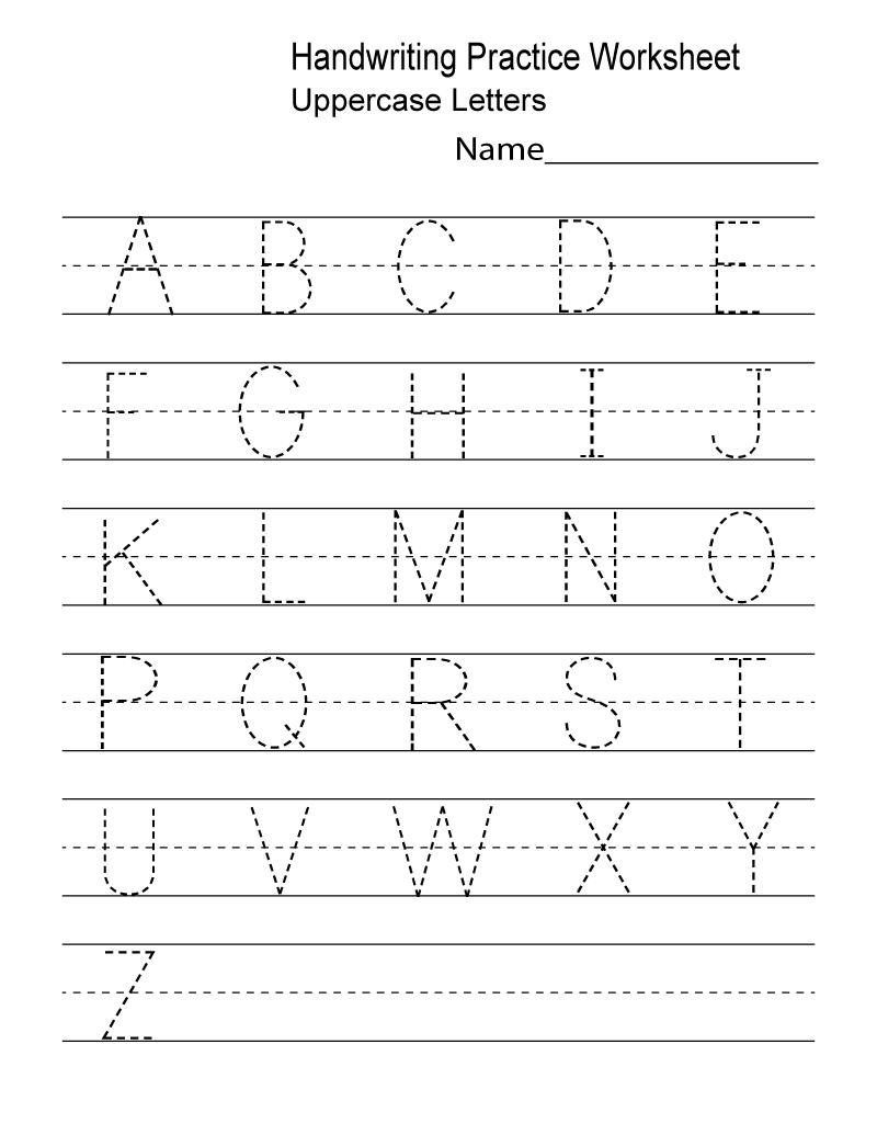 Kindergarten Writing Worksheets Free
