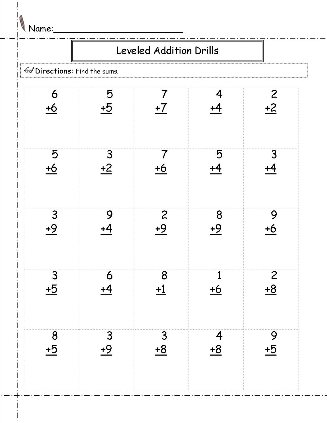 Math Worksheets for Grade 2 Addition