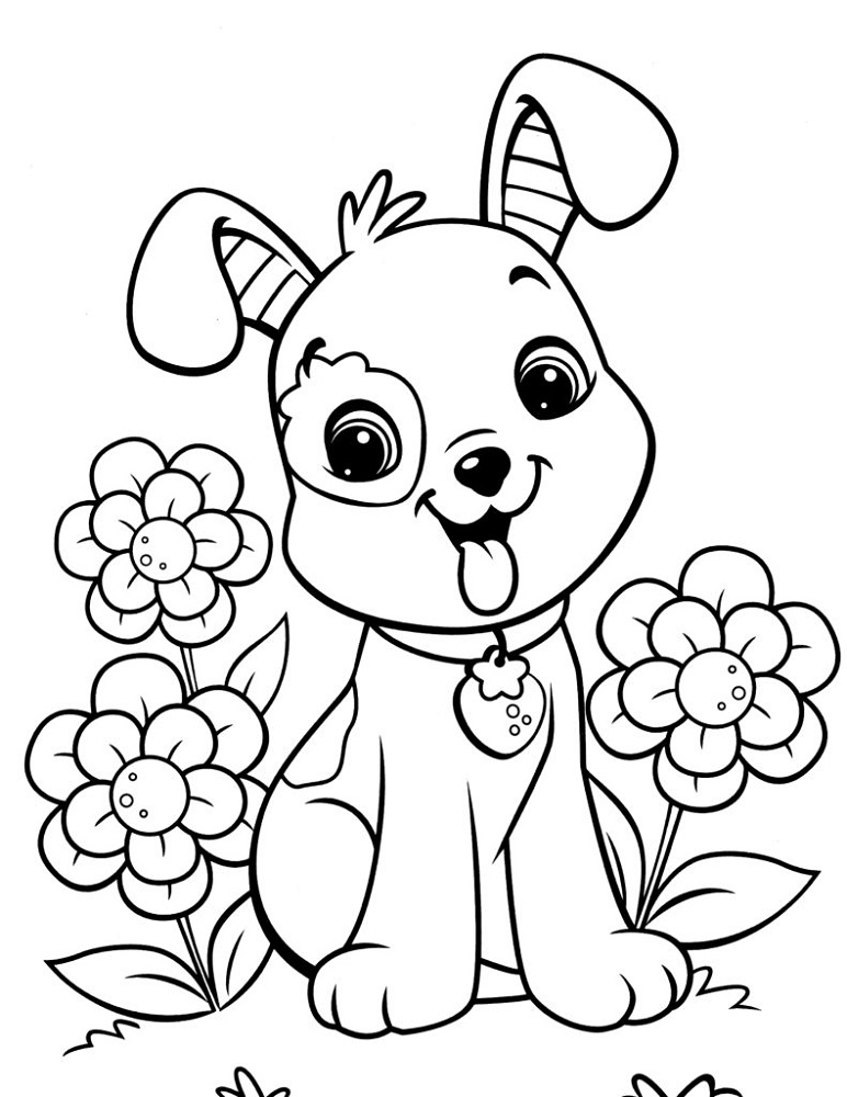 Print Out Coloring Sheets Dog