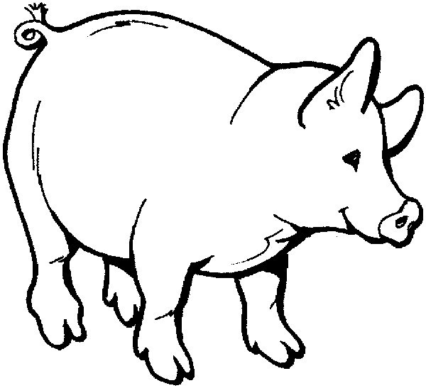 Print Out Coloring Sheets Pig