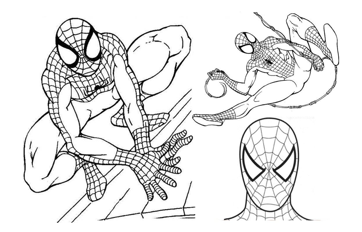 Print Out Coloring Sheets Spiderman