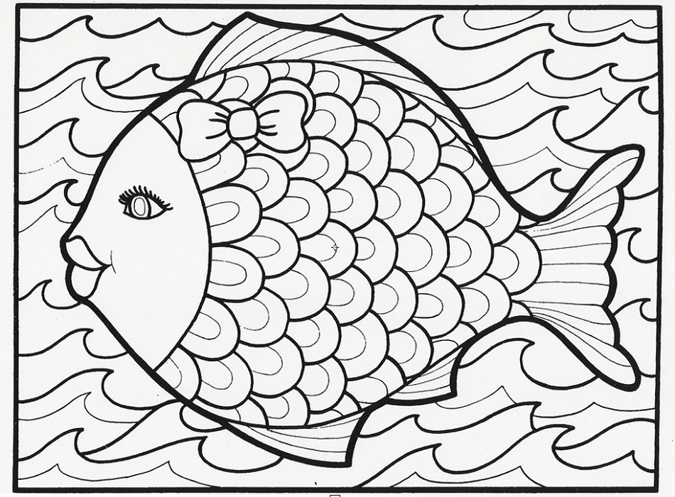 Printable Coloring Book for Kids Fish