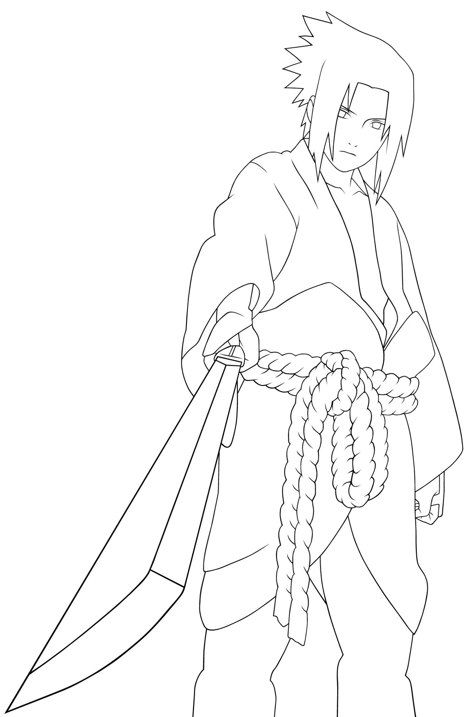 Printable Coloring Book for Kids Naruto