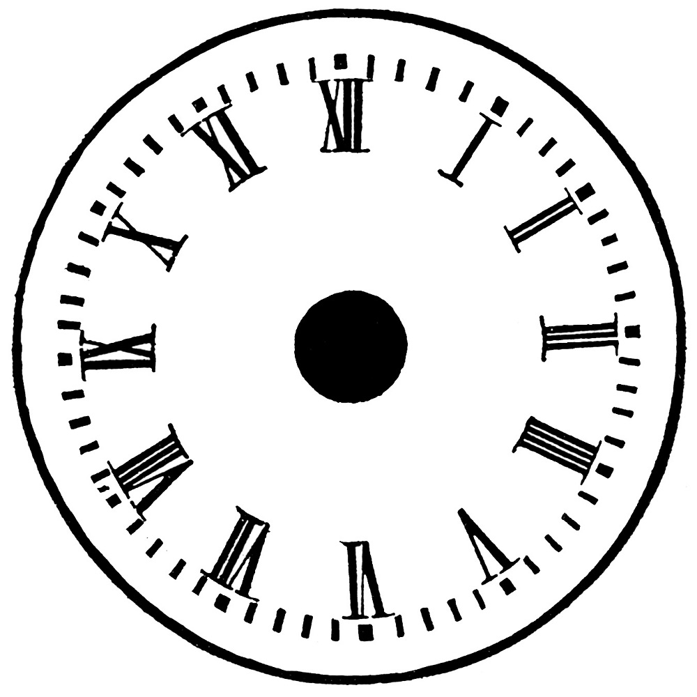 free clock faces clip art
