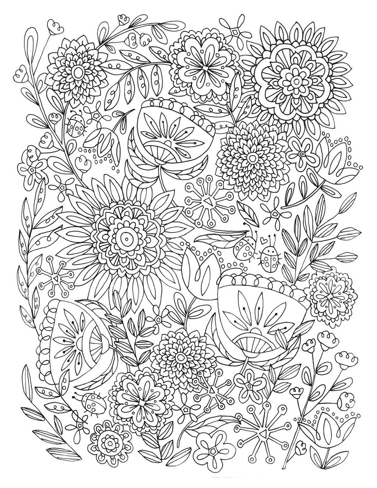 Adult Coloring Pages Flower