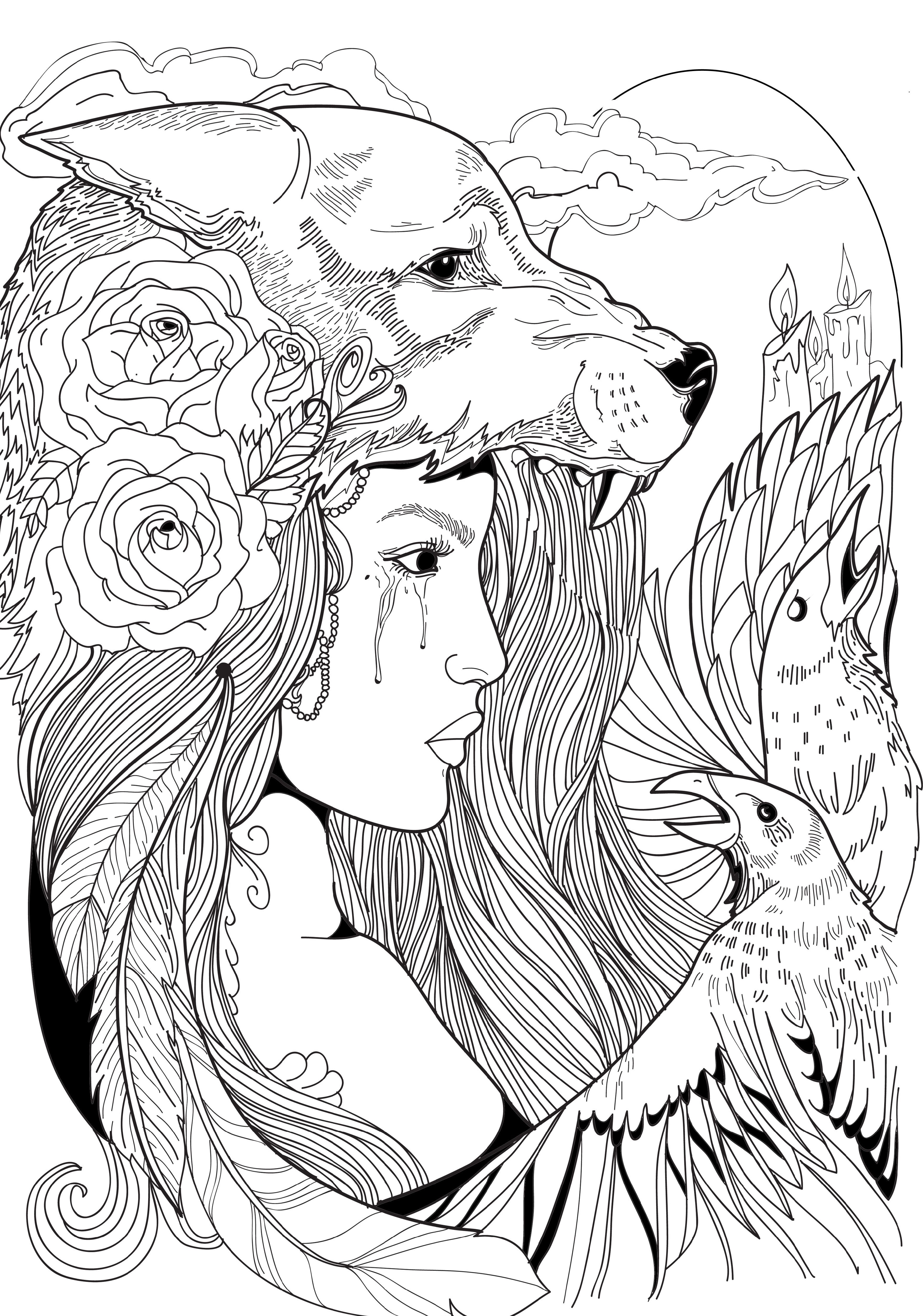 Adult Coloring Pages Women