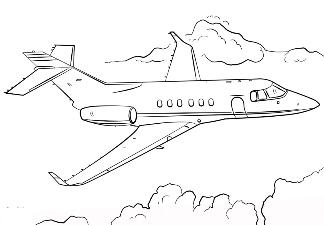 Airplane Coloring Pages Jet