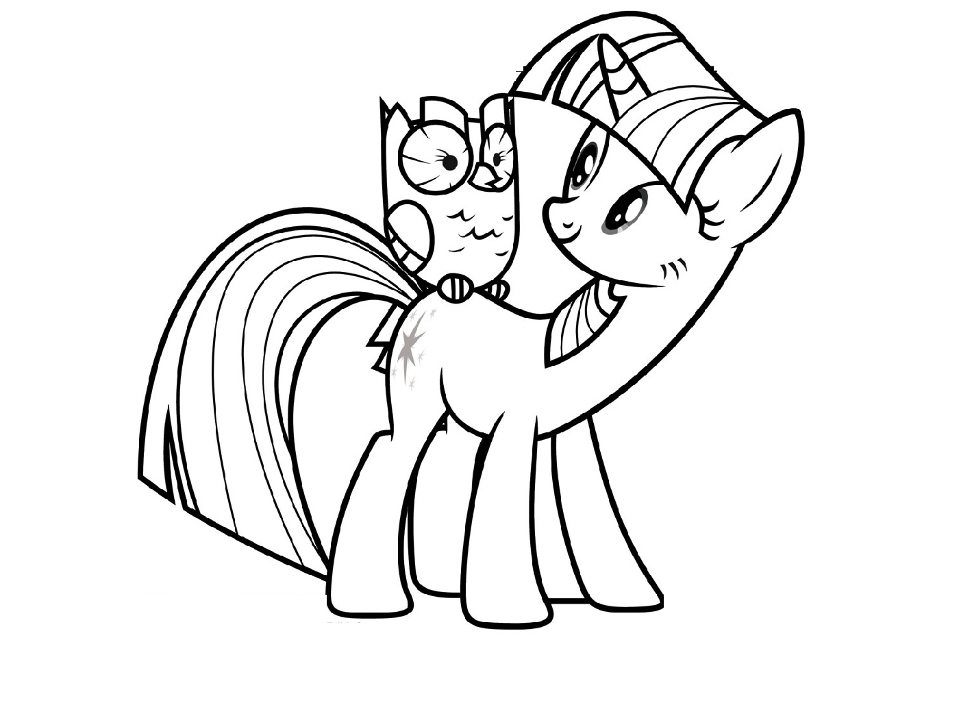Alicorn Coloring Pages And Owlicious