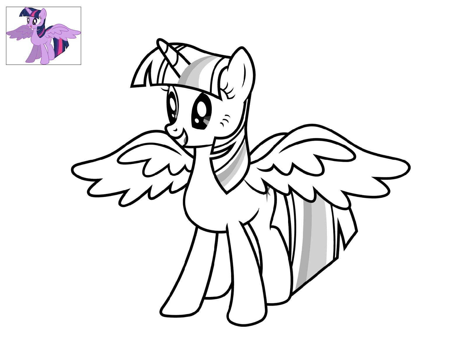 Alicorn Coloring Pages Free