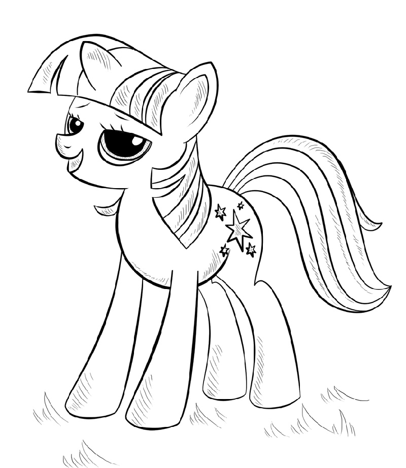 Alicorn Coloring Pages My Little Pony