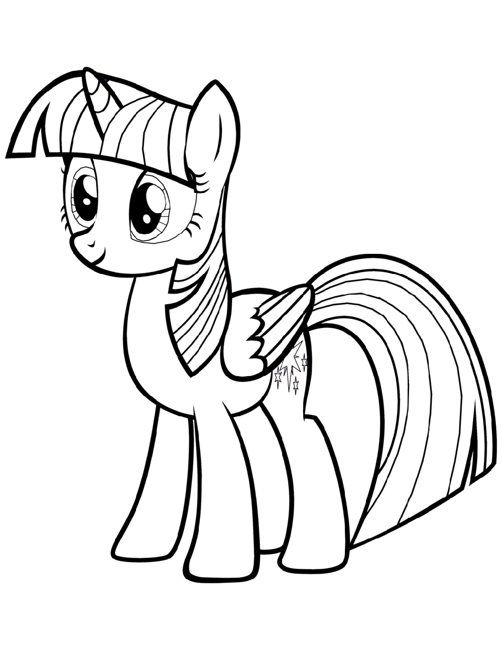 Alicorn Coloring Pages Printable
