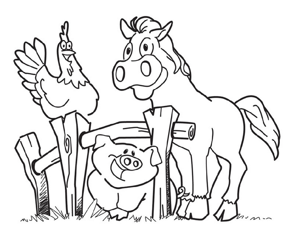 Animal Coloring Pages Farm