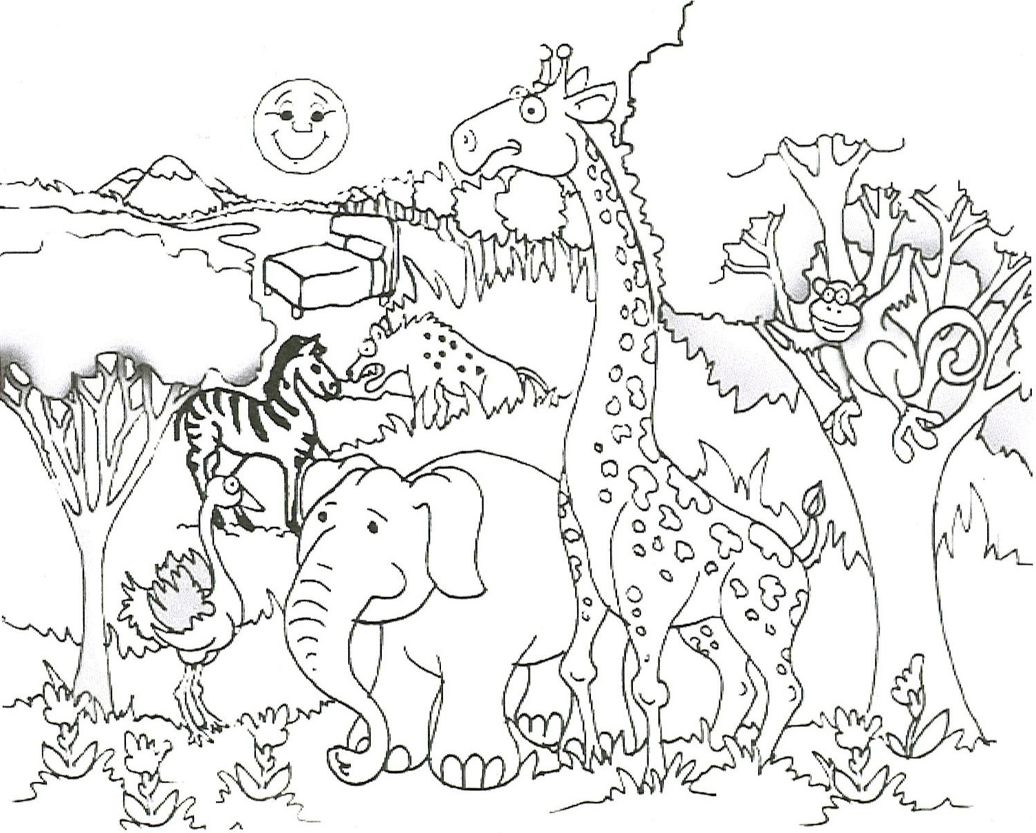 Animal Coloring Pages Wild