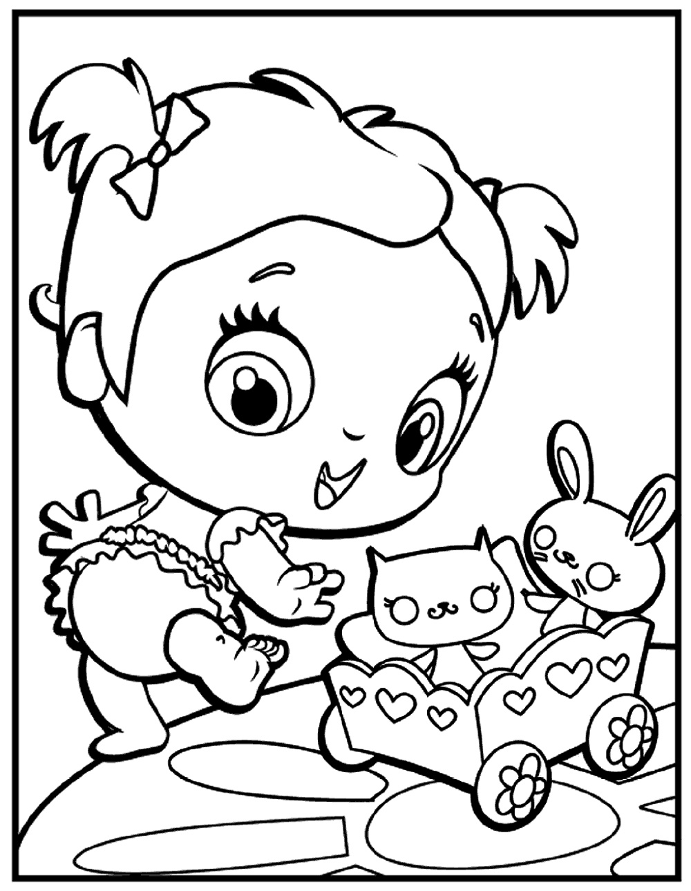 Baby Alive Coloring Pages Doll