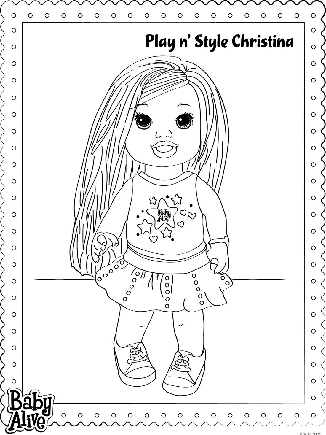 Baby Alive Coloring Pages For Girl
