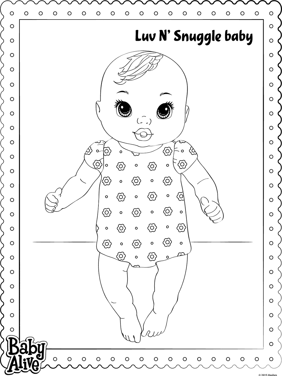 Baby Alive Coloring Pages Luv N' Snuggle Baby