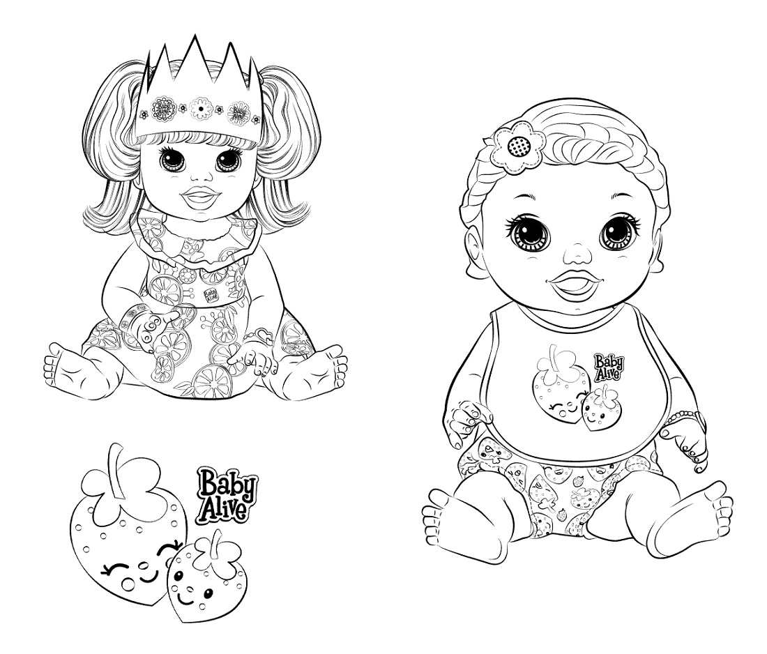 Baby Alive Coloring Pages Printable