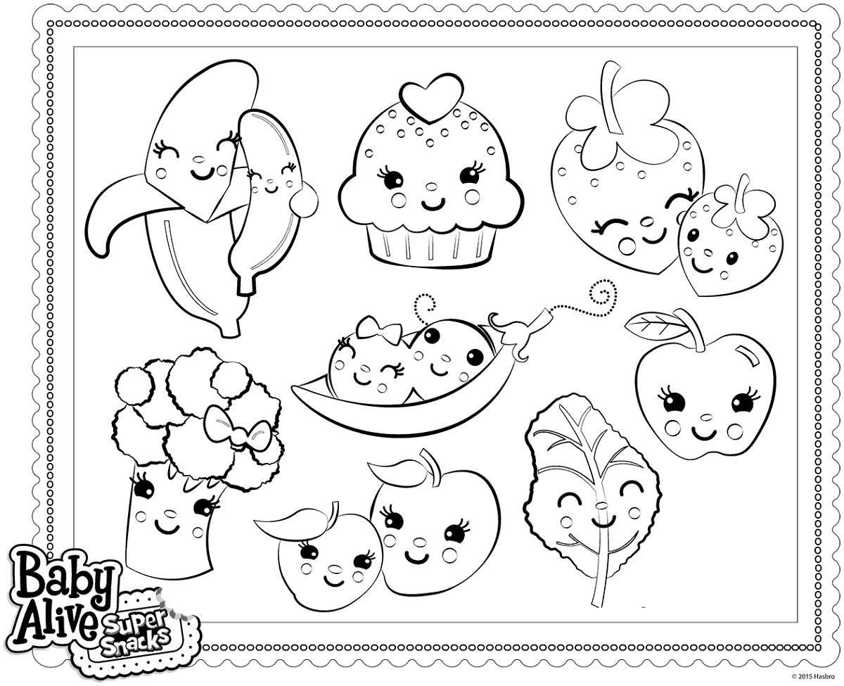 Baby Alive Coloring Pages Super Snacks