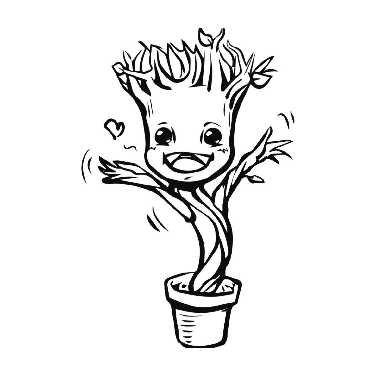 Baby Groot Coloring Page Marvel