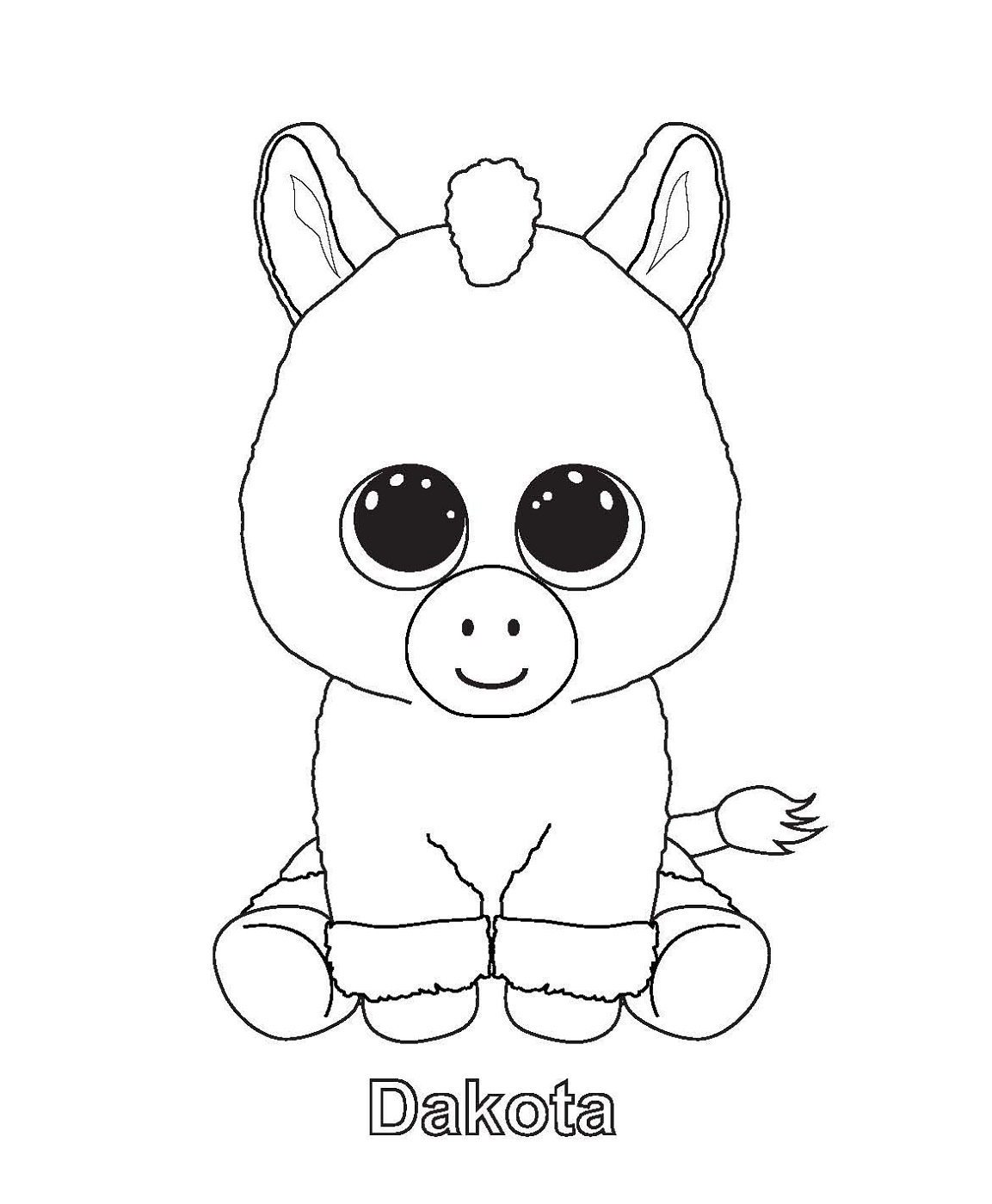 Beanie Boo Coloring Pages Dakota