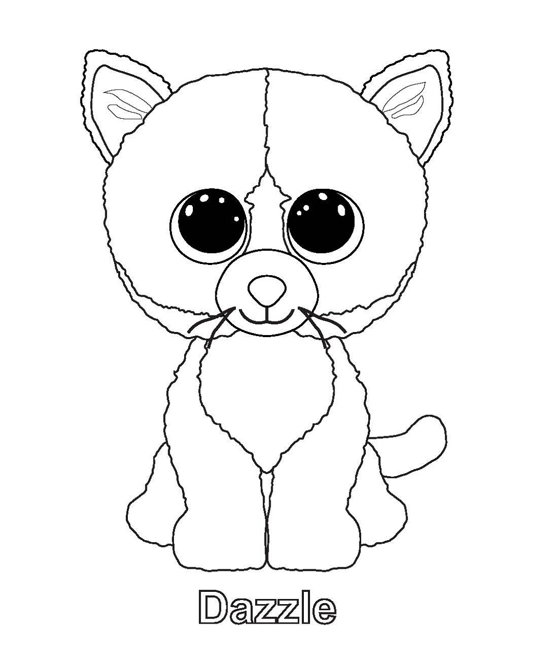 Beanie Boo Coloring Pages Dazzle