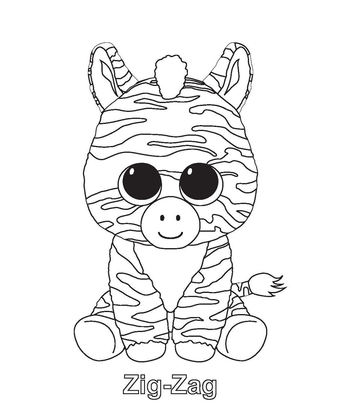 Beanie-Boo-Coloring-Pages-Zig-Zag