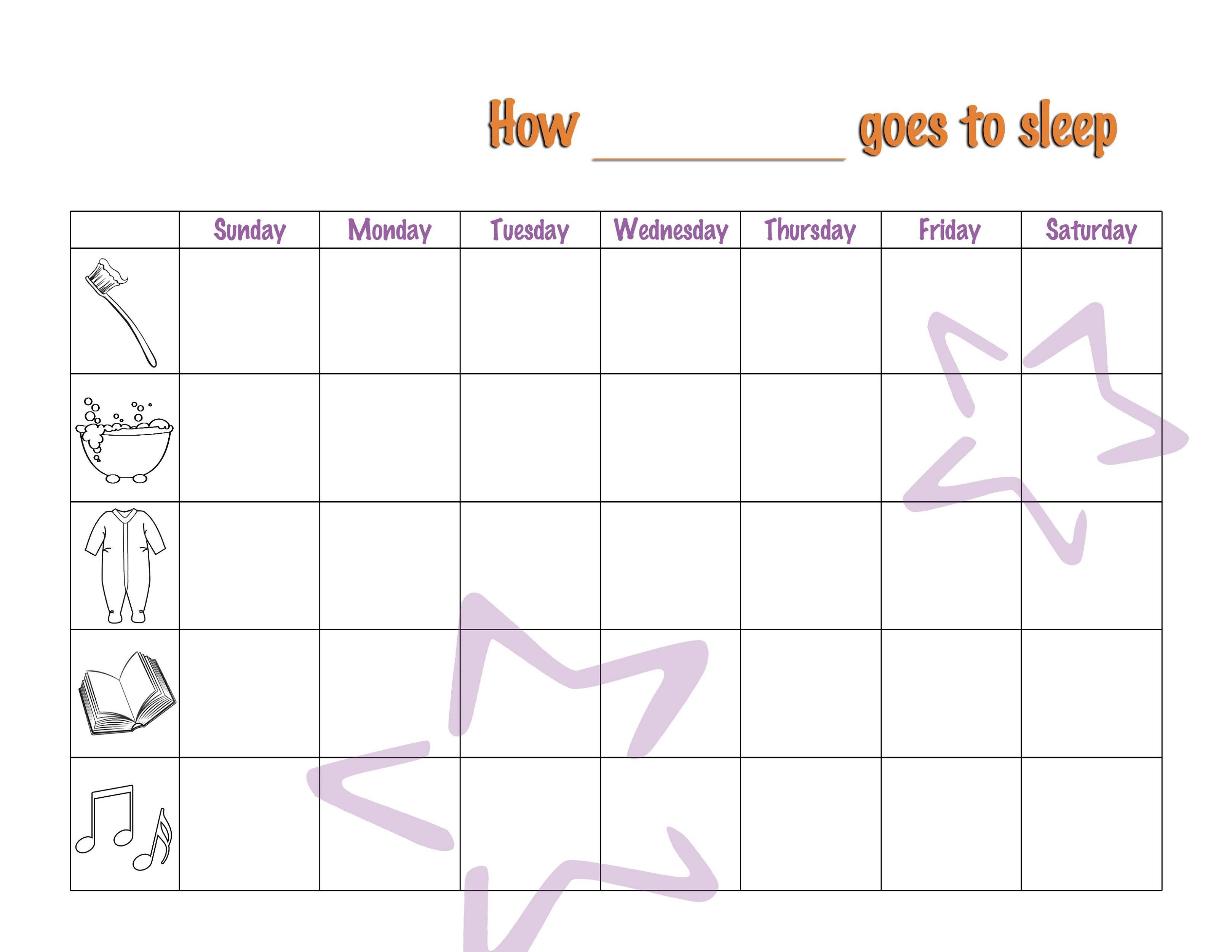 Behavior Reward Chart for Kids