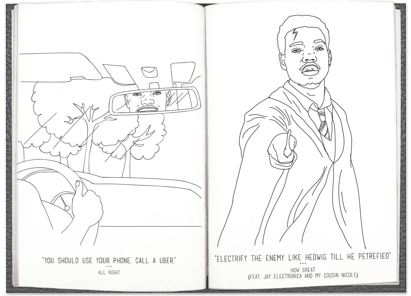 Chance the Rapper Coloring Book Clouds