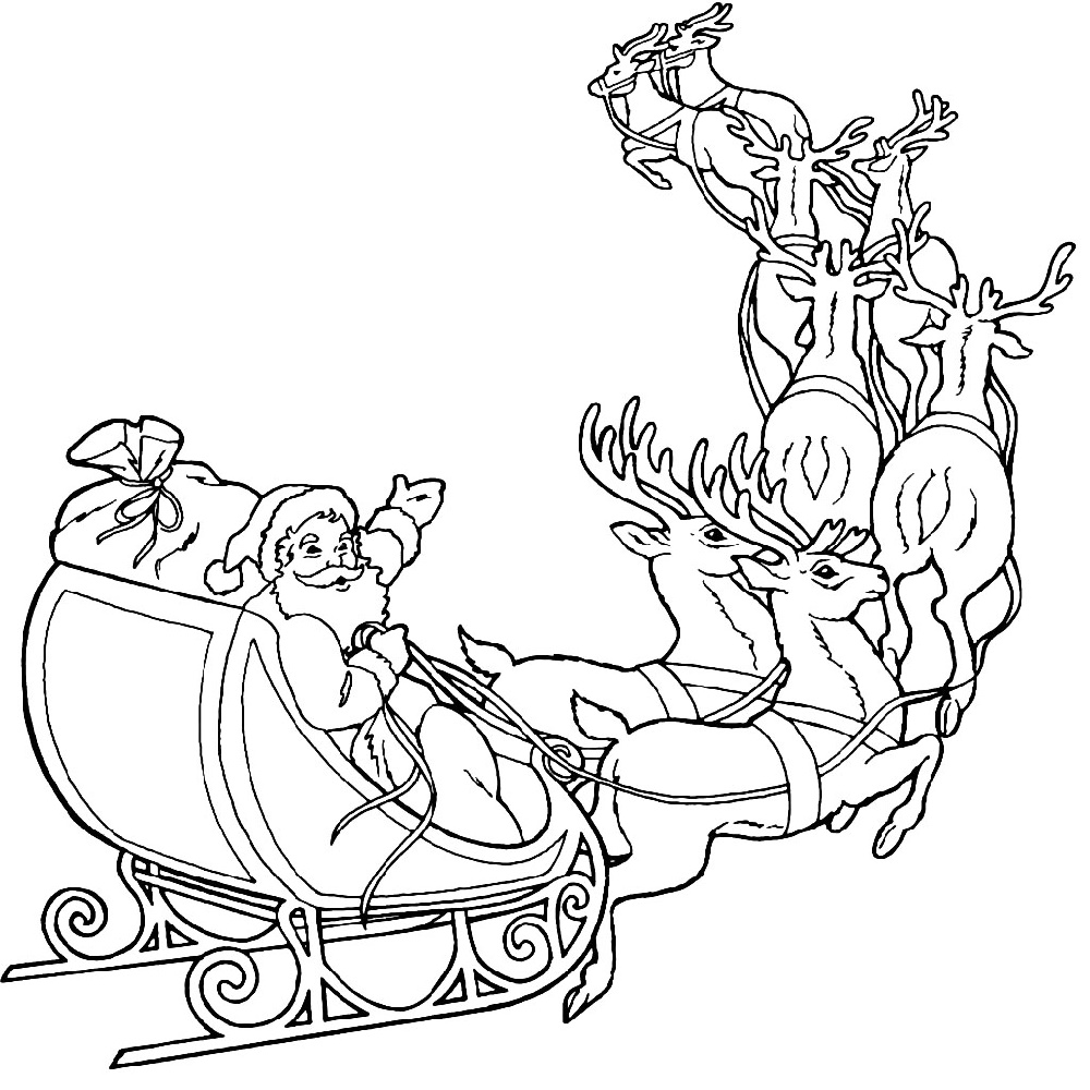 Christmas Coloring Pages Reindeer