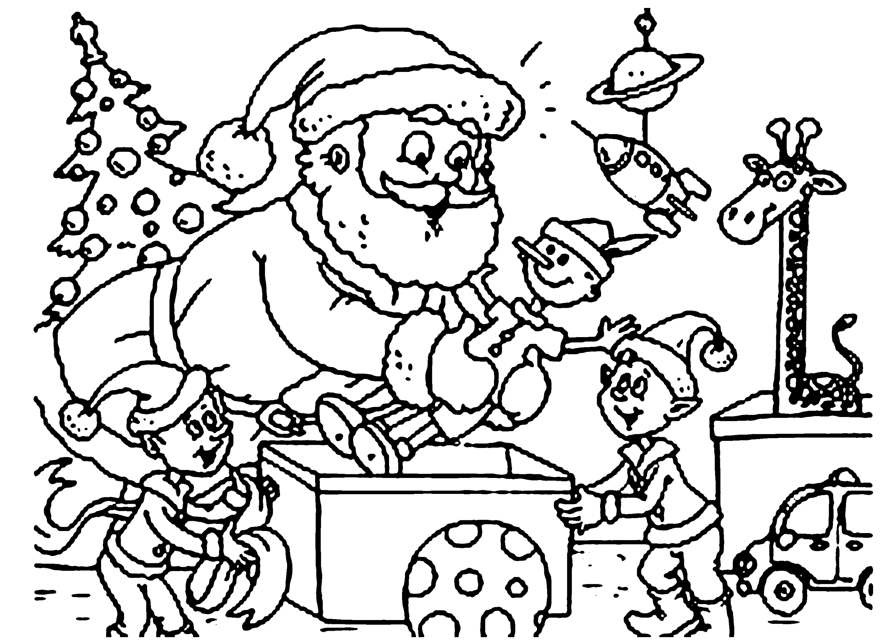 Christmas Coloring Pages Santa