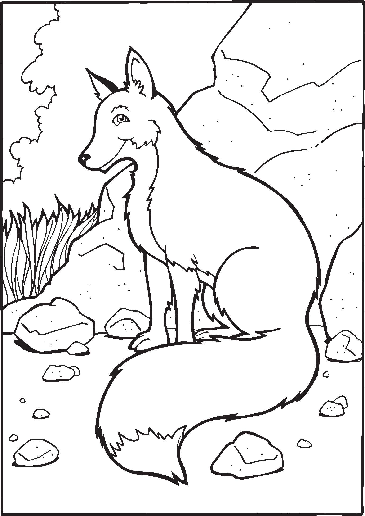Coloring Book For Me Fox