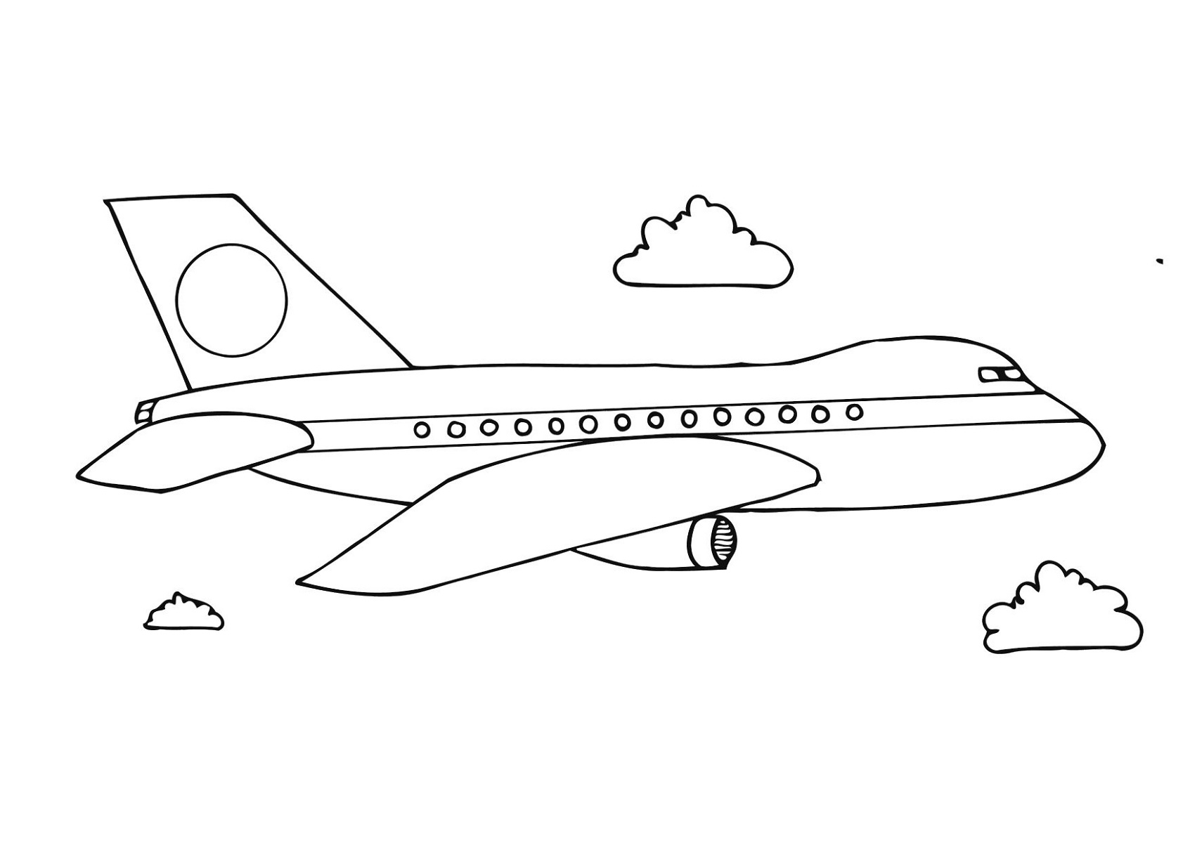 Coloring Pages For Kids Airplane