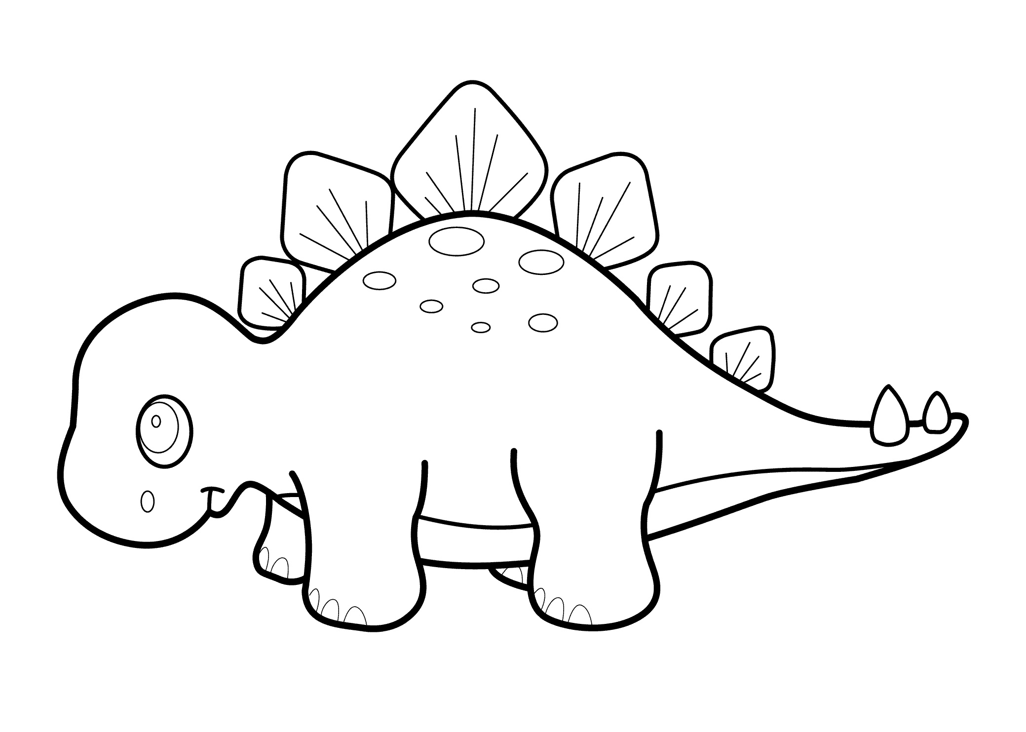 Dinosaur Coloring Pages Cute