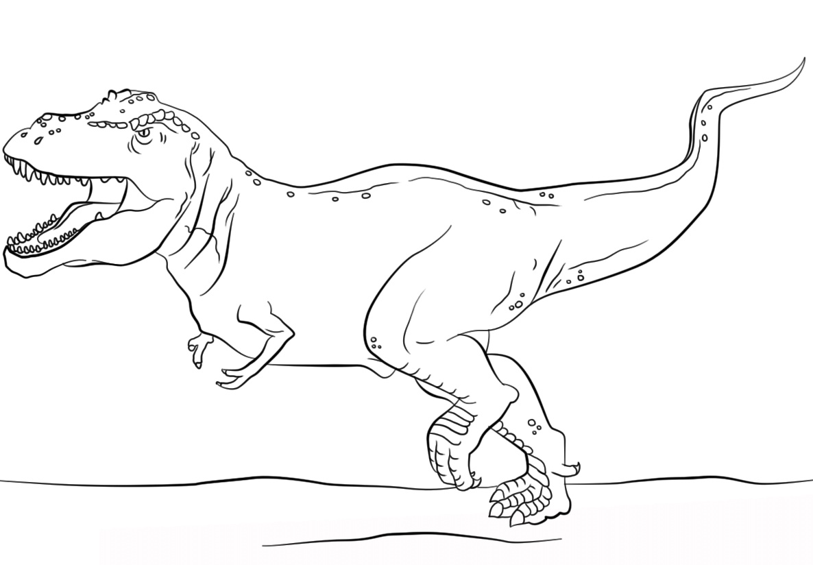 Dinosaur Coloring Pages T-Rex