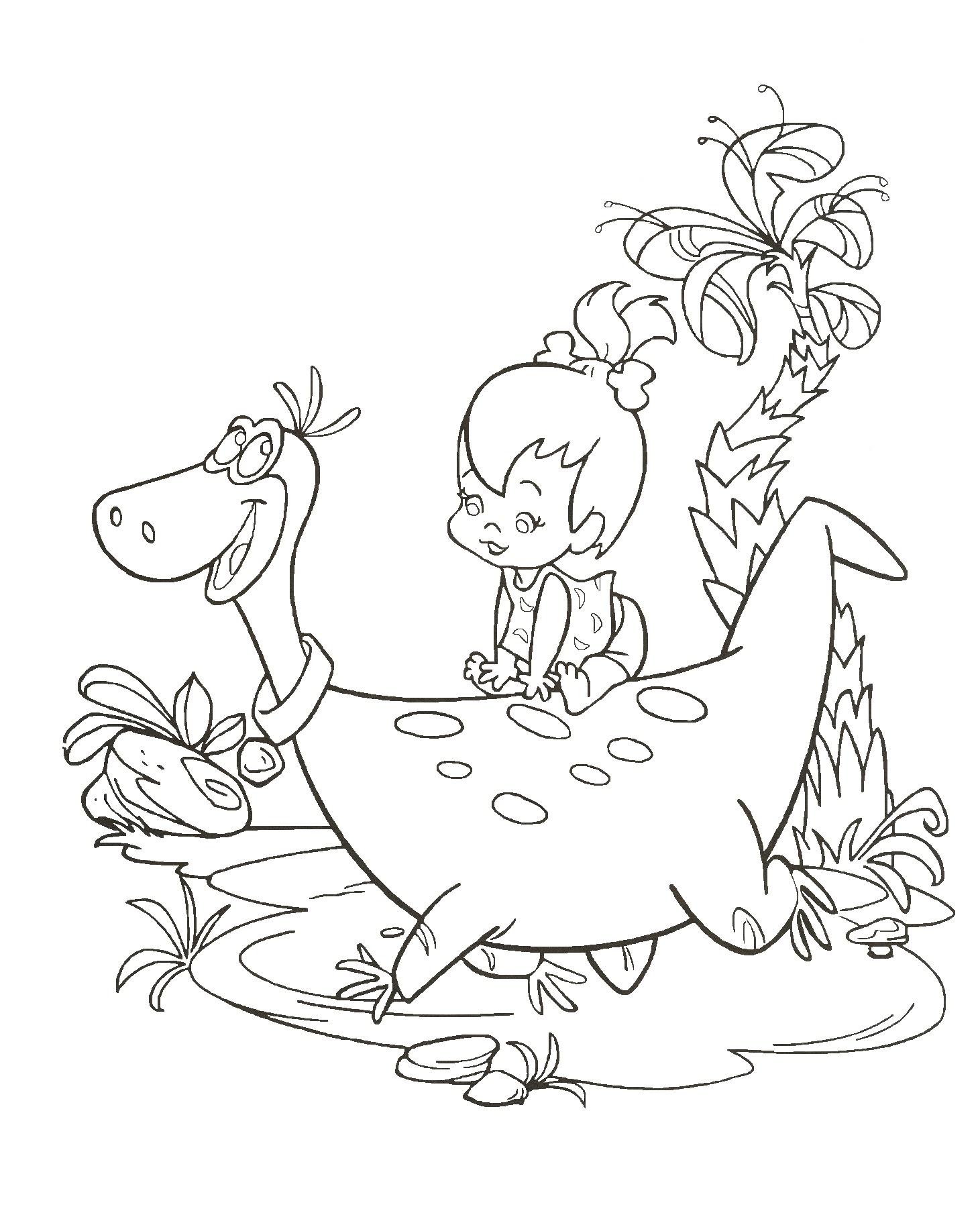 Dinosaur Coloring Pages for Girls
