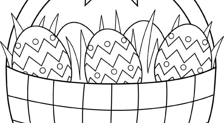 Easter Coloring Pages Baskets